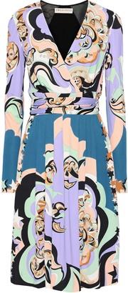 Emilio Pucci Paneled Printed Jersey Wrap Dress