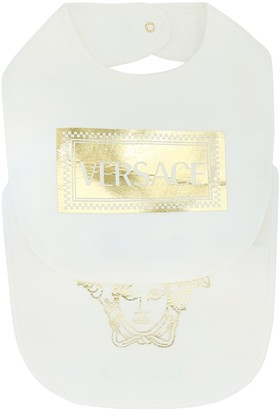 Versace Kids Baby stretch-cotton bib set