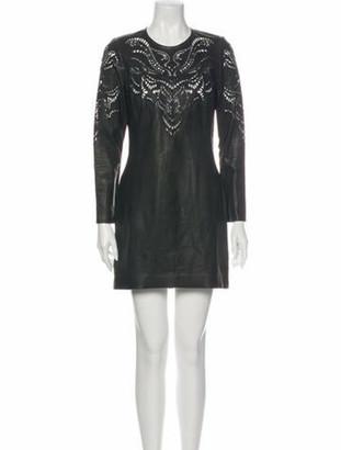 Isabel Marant Lamb Leather Mini Dress Black