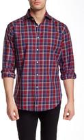 Thomas Dean Regular Fit Long Sleeve Woven Shirt