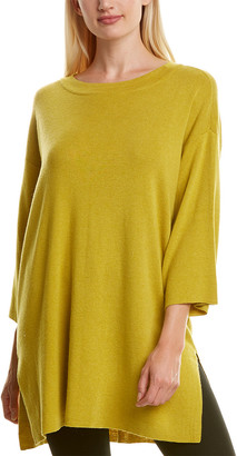 Eileen Fisher Dropped-Shoulder Silk-Blend Tunic