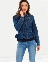 Only Agnes Frill Denim Jacket