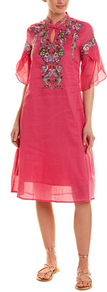 Zeraco Lanyayi Silk & Linen-Blend Shift Dress