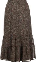 Joie Cyprine printed silk skirt