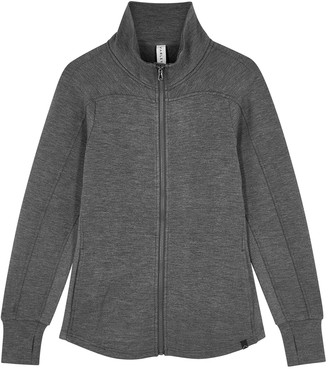 Varley Rossbury Grey Stretch-jersey Track Jacket