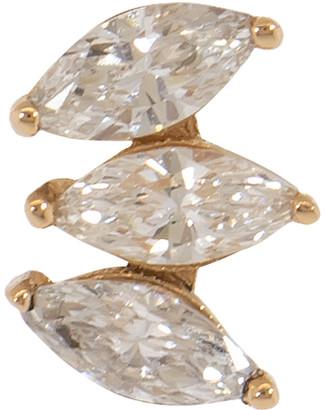 Marquis 3 Diamond Solitaire Stud