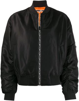 McQ Logo Zip-Up Bomber Jacket