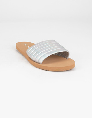 Volcom Puff Puff Give Womens Silver Sandals