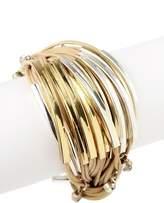 Saachi Nude Crystal Charm String Bracelet
