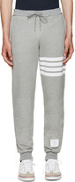 Thom Browne Grey Classic 4 Bar Lounge Pants