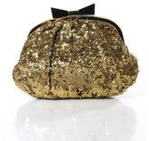Felix Rey Gold Sequin Slouchy Small Clutch Handbag