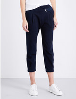 AG Jeans The Wren cropped high-rise stretch-denim trousers