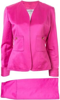 Chanel Pre Owned CC logos button setup suit jacket