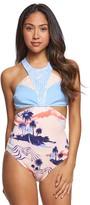Roxy Pop Surf High Neck One Piece Swimsuit 8166078