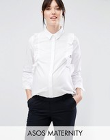 Asos Smart Ruffle Front Shirt