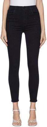 J Brand 'Leenah' Cropped Star Studs Jeans