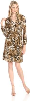 Star Vixen Women's Long Sleeve Fullwrap Dress