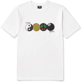 Stussy Harmony Printed Cotton-Jersey T-Shirt