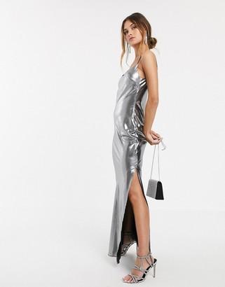 ASOS DESIGN metallic cami maxi dress