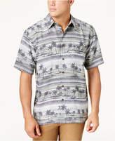 Quiksilver Waterman Men's Power Lounge 2 Palm Tree-Print Shirt