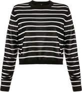 Tibi Nautical Stripe Cropped Pullover