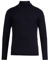 Kolor High-neck Wool Sweater