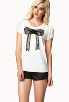 Forever 21 Lace Bow Top