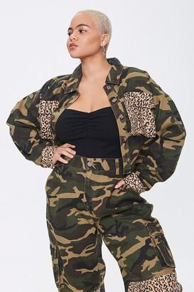 Forever 21 Plus Size Camo Leopard Jacket