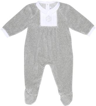 Tartine et Chocolat Baby cotton-blend velour onesie