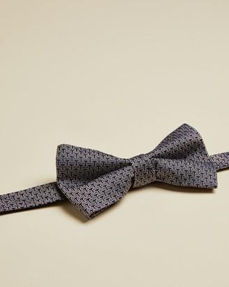 Ted Baker Branded Silk Jacquard Bowtie