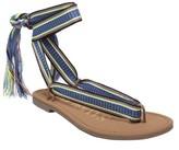 Sam & Libby Women's Blossom Braided Wrap Gladiator Sandals