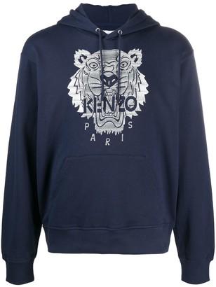 Kenzo Tiger-Motif Hoodie