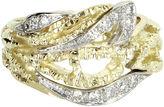 One Kings Lane Vintage 14K Gold Diamond Cigar Ring