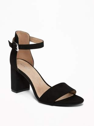 Old Navy Faux-Suede Block-Heel Sandals for Women