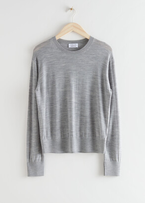 And other stories Slit Cuff Wool Knit Sweater
