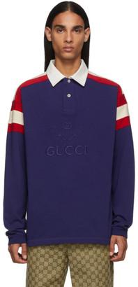Gucci Blue Tennis Club Polo
