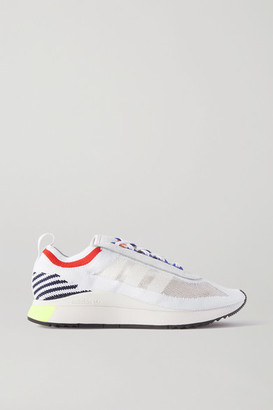 adidas Sl Andridge Leather-trimmed Primeknit Sneakers - White
