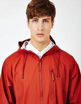 Rains Parka Coat Red