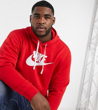 Nike Plus Club large logo hoodie in red