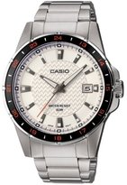 Casio MTP-1290D-7AVEF Men's Analog Quartz Watch with White Dial, Steel Bracelet and Date Indicator