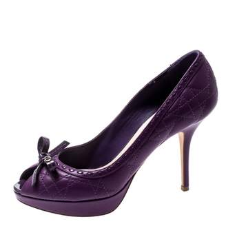 Christian Dior Purple Leather Heels