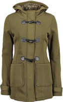 Yoki Women's Fleece Jackets OLIVE - Olive Fleece Hooded Toggle Coat - Women