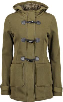 Yoki Women's Fleece Jackets OLIVE - Olive Fleece Hooded Toggle Coat - Women