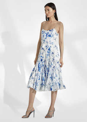 Ralph Lauren Denisa Floral Satin Dress