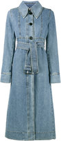 Marni denim trench coat - women - Cotton - 42