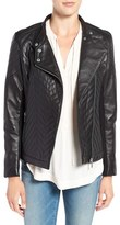 Badgley Mischka Women's 'Hayden' Quilted Moto Jacket