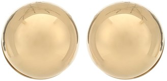 Jil Sander Brass earrings