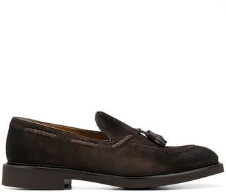 Doucal's Tassel-Embellished Suede Loafers
