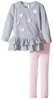 Mud Pie Heart Tunic And Leggings Set Girl's Active Sets