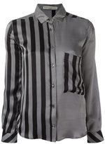 Golden Goose Deluxe Brand striped satin shirt - women - Silk - M